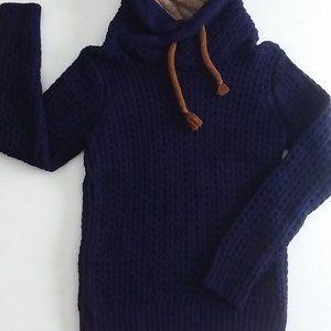 Unique Cable knit Shawl collar sweater